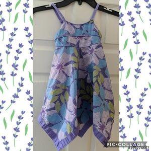 Baby Gap Floral Handkerchief Hem Spring Dress
